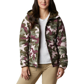 Columbia Powder Lite Veste à capuche Femme, olive green traditional camo
